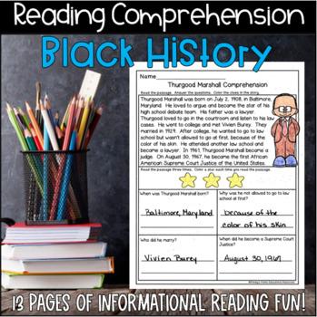 Black History Month Reading Comprehension