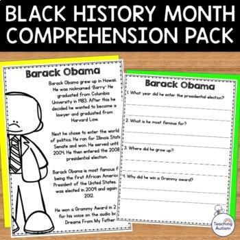 Black History Month Reading Comprehension Bundle