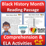 Black History Month Reading Comprehension February Passage