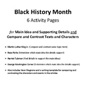 Black History Month Reading Comprehension: Main Idea and Compare and Contrast