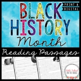 Reading Comprehension Passages and Questions - Black History Month