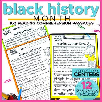 Black History Month Reading Comprehension Passages (K-2) - Social Studies