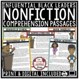 Influential Black Leaders Nonfiction Reading Comprehension