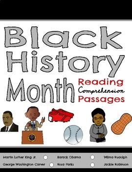 Black History Month Reading Comprehension Passages & Questions BUNDLE