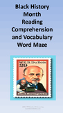 Black History Month Reading Comprehension and Vocabulary Word Maze