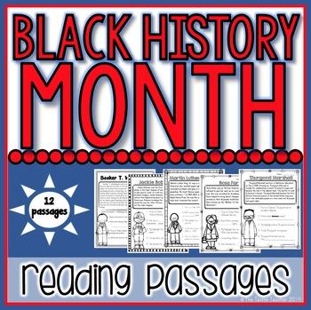 Black History Month Reading Passages: 12 Famous Americans