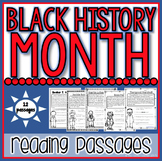 Black History Month Reading Passages: 12 Famous Americans