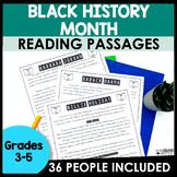 Black History Month Reading Passages | 36 Historical Figur