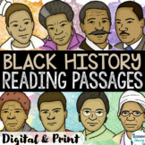Black History Month Reading Comprehension Passages | Black