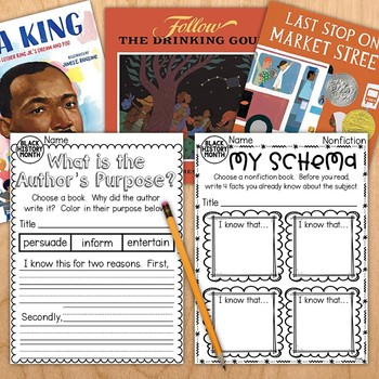 Black History Month Reading Response Journal - Perfect for Read Alouds!