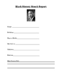 Black History Month Report Template - Martin Luther King Jr.
