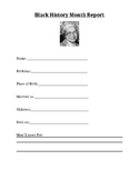 Black History Month Report Template - Rosa Parks
