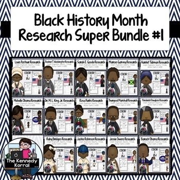 Black History Month BUNDLE 1 - Biography Research {Reports