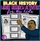 Black History Month: Research Activities and Discussion Cards for Teens