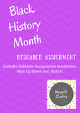 Black History Month Research Assignment