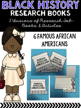Black History Month Research Booklets