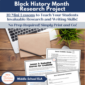 Black History Month Research Essay and Poster Project by Mrs. Nelson