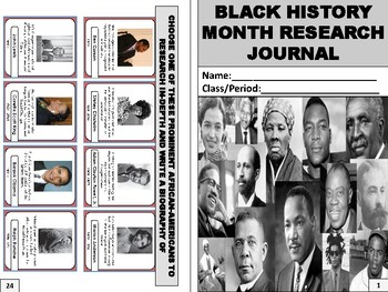Black History Month Research Journal