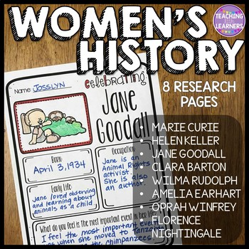Women's History Month Research Pages
