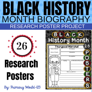 Black History Month Research Poster Project Class Set