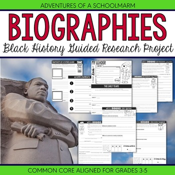 Black History Research Report Biography Project - 3rd 4th 5th Common Core