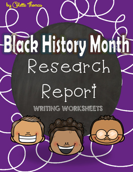 Black History Month Research Report Worksheets