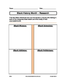 Black History Month - Research