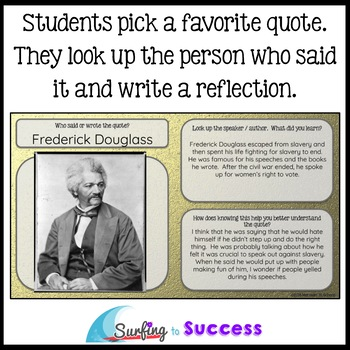 Black History Month: Respond to Quotes for the Google Classroom