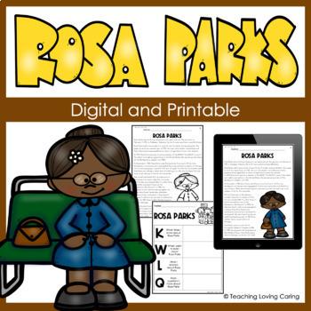 Black History Month Rosa Parks Activity Set