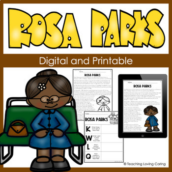 Rosa Parks Activities - Black History Month