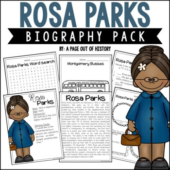 Rosa Parks Biography Pack (Black History Month)