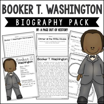 Booker T. Washington Biography Pack (Black History Month)