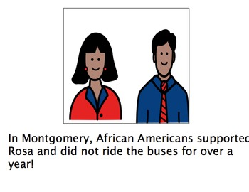 Black History Month: Rosa ParksAdaptive Book + Timeline Activity austism-lang tx