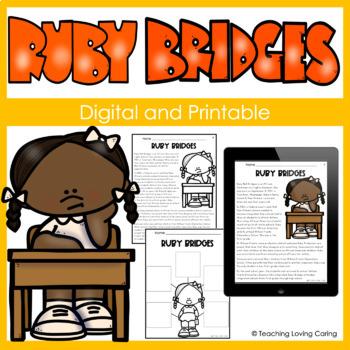 Black History Month Ruby Bridges Activity Set