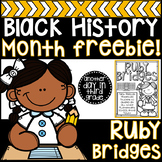 Black History Month Ruby Bridges FREEBIE