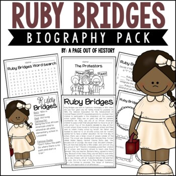 Ruby Bridges Biography Pack (Black History Month)