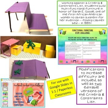 Black History Month STEM Challenge: Functional Furniture 1:1 Paperless Version