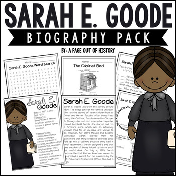 Sarah E. Goode Biography Pack (Black History Month)