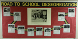 Black History Month School Desegregation Exhibit Bulletin Board