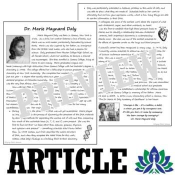 Scientific Method: Scientist Reading Article & Questions