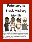 Black History Month Shared Reading and Coloring Book