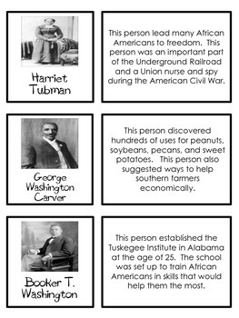 Black History Month Sheets