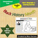 Black History Month Short Biography and Coloring Printable