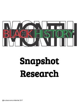 Black History Month Snapshot Research and Mini Booklet