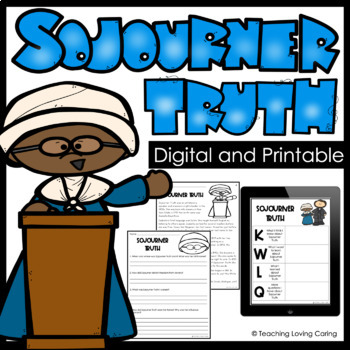 Sojourner Truth Activities - Black History Month