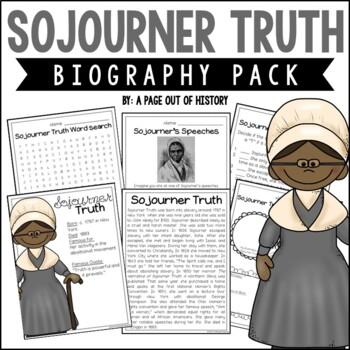 Sojourner Truth Biography Pack (Black History Month)