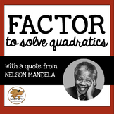 QUADRATIC EQUATIONS - factor to solve / BLACK HISTORY