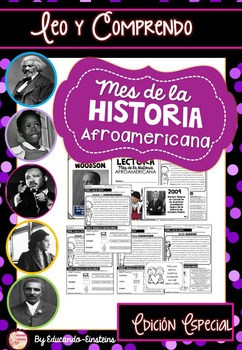 Black History Month. Spanish Reading Passages (Especial Edition)