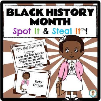 Black History Month Spot It & Steal It
