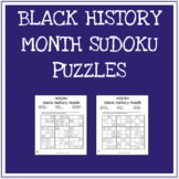 Black History Month Sudoku Games